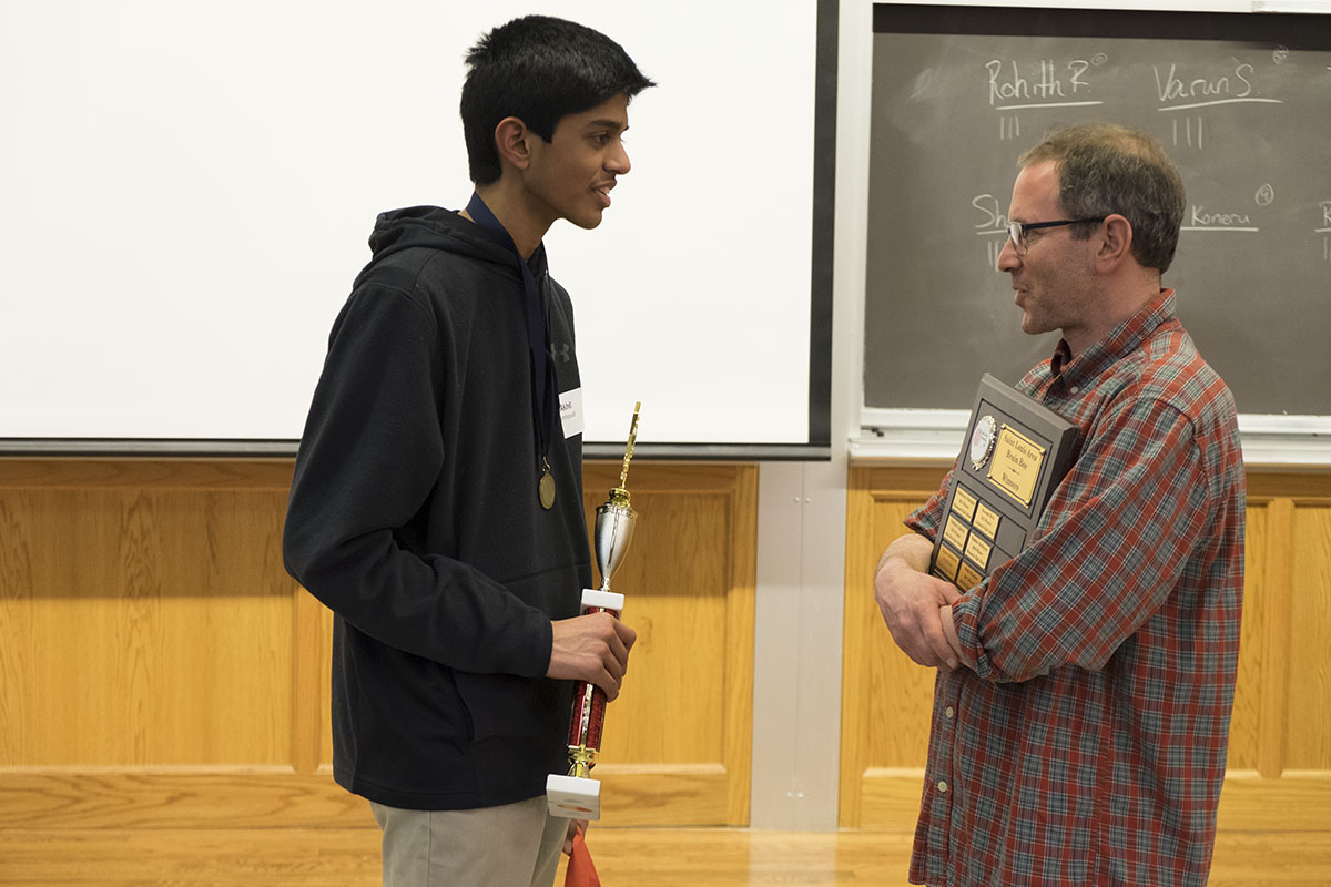 student and professor at Brain Bee