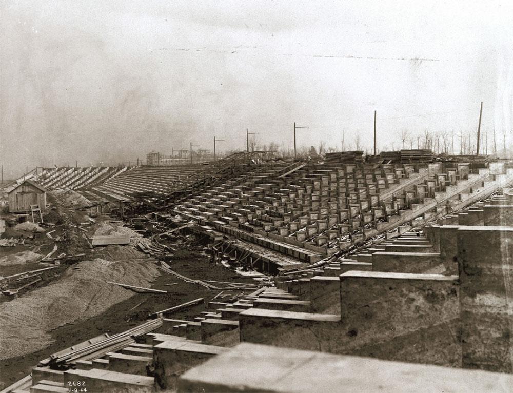 Olympic stadium under construction