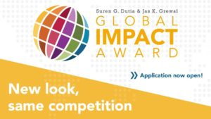 Flyer for Global Impact Award