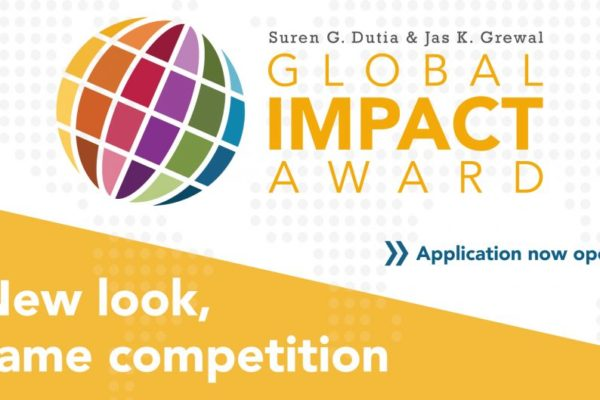 Applications now open for Global Impact Award