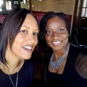 Kelly-Ann Henry (right), MBA '00, is the first ever enterprise fraud consultant for Toyota Financial Services. She is pictured here with a friend. (Courtesy photo)