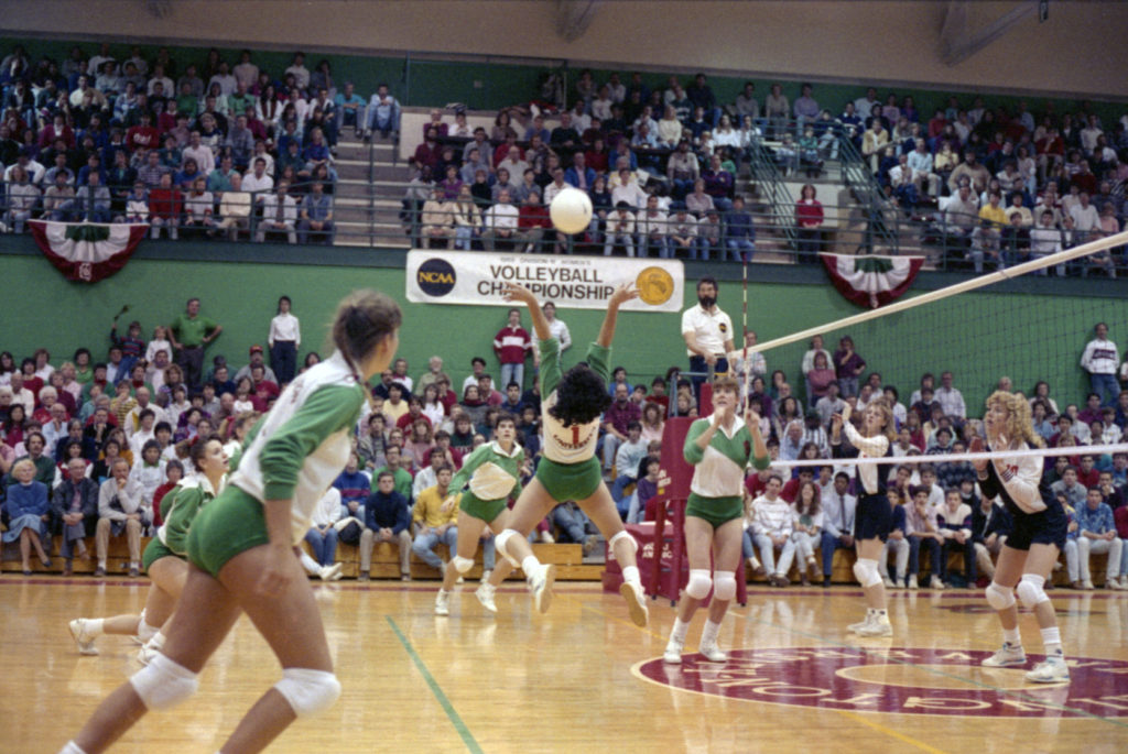 Womens volleyball win national championship in 1989