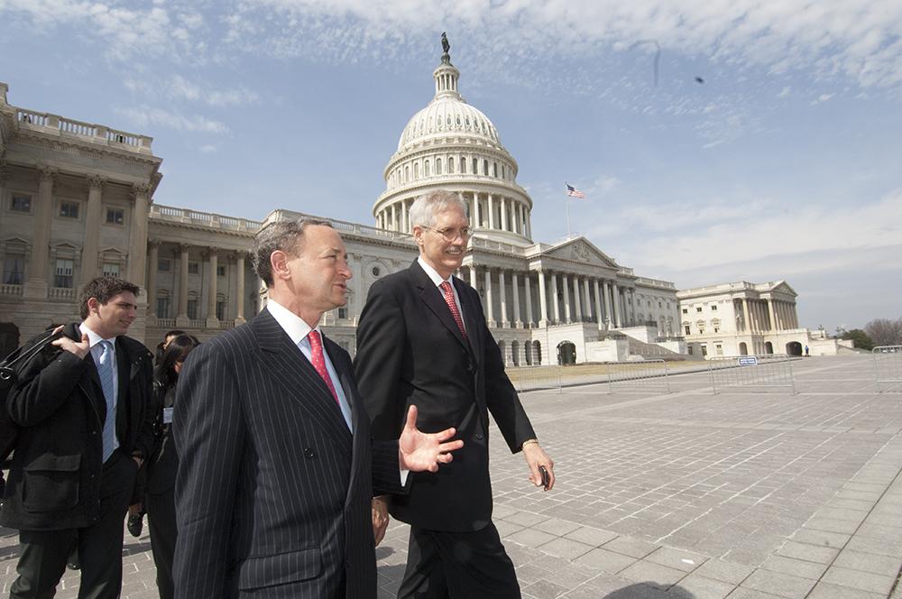 Wertsch and Chancellor Mark Wrighton in Washington D.C. in 2009