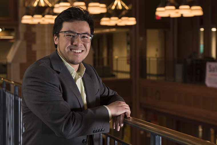 Ishak Hossain, president of the Muslim Student Association, knows his friends and classmates have questions about Islam. He aim to help spread awareness and clear up any misgivings about his religion.