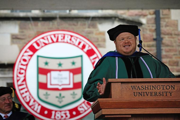 Graduate student speaker Donald Gerke