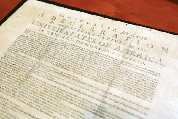 Rare copy of Declaration of Independence now on view