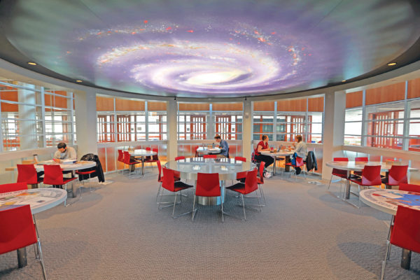 Inside a transformed Olin Library