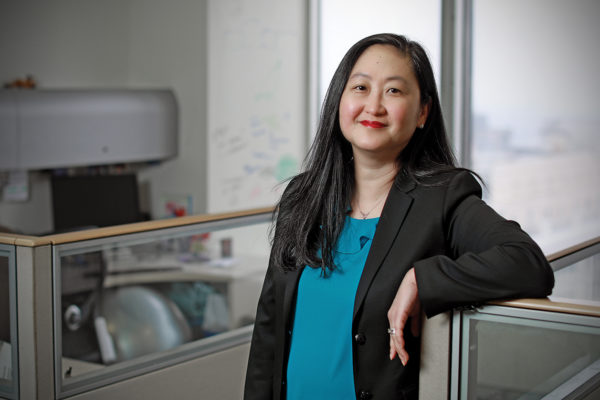 Esther Shin in the Urban Strategies, Inc. offices