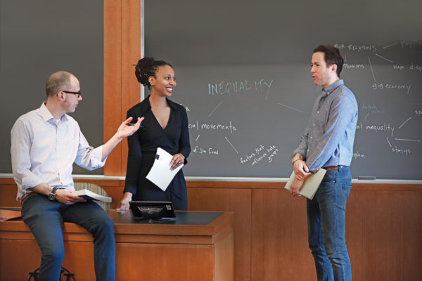 Sociology faculty: David Cunningham, Adia Harvey Wingfield, Jake Rosenfeld