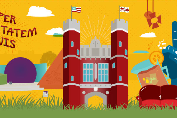 WashU illustrated collage