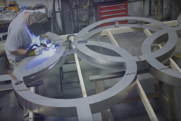 Olympic rings sculpture to be dedicated
