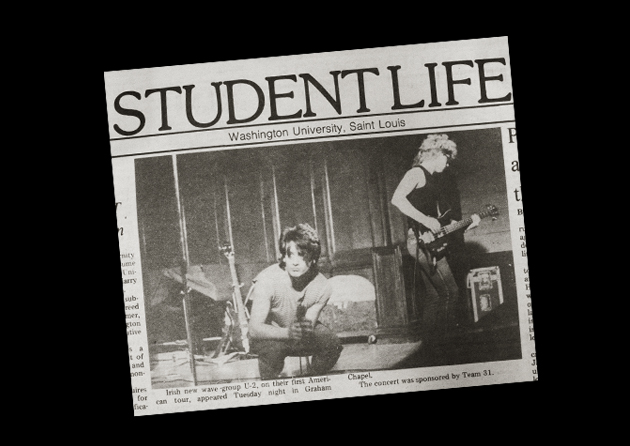 Student Life article on U2's performance on campus