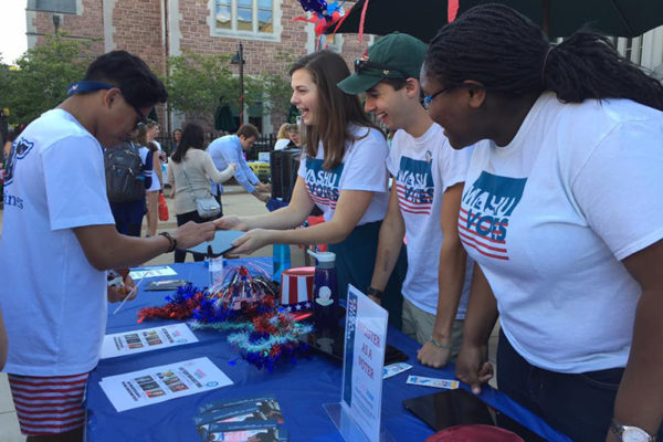 WashU Votes to register voters thisweek