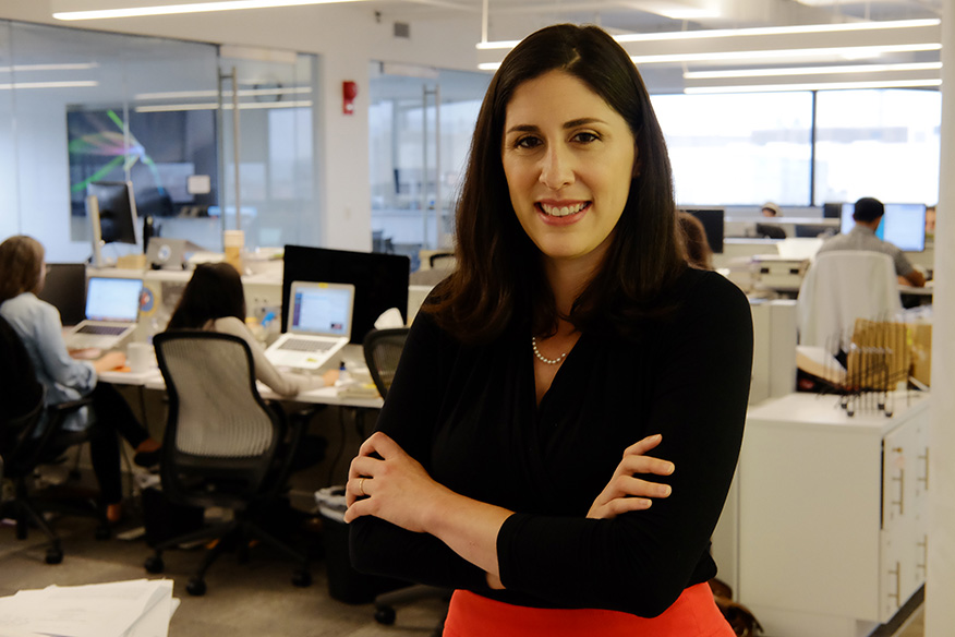 A former reporter for the <i>Washington Post</i>, Sarah Kliff, AB '07, is a senior policy correspondent at Vox.com in Washington, D.C. Among her areas of interest and expertise are health-care policy and the effects of such on people's lives. (Photo: Andres Alonso)