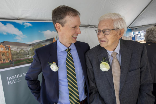 Groundbreaking held for James M. McKelvey, Sr. Hall