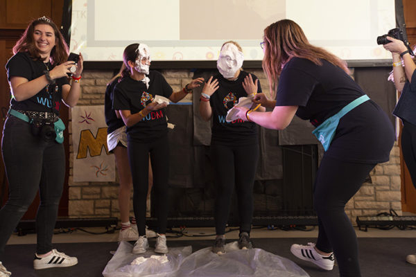 pies in the face at Dance Marathon