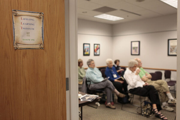A Lifelong Learning Institute class on the West Campus.