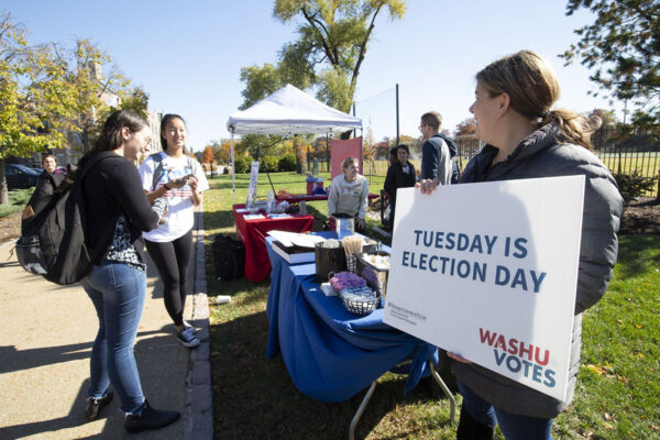 Washington University designated 'Voter-Friendly Campus'
