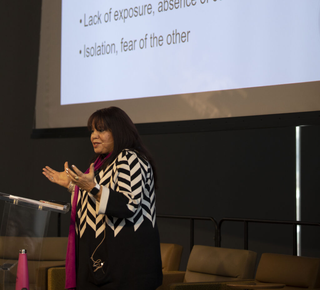 """DeCou presented """"When You Feel Some Kind of Way"""": Tools for Dialoguing Across Differences at the 2019 Day of Discovery in Hillman Hall."""