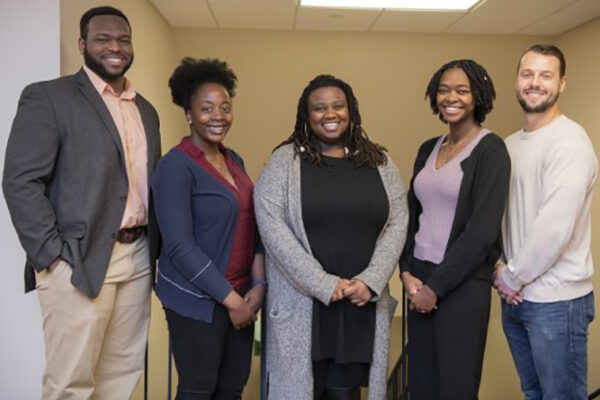 Five inducted into Bouchet Graduate Honor Society