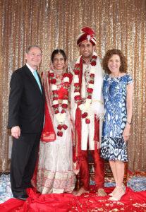 Risa Zwerling Wrighton and Mark Wrighton at Harita Shah's wedding.