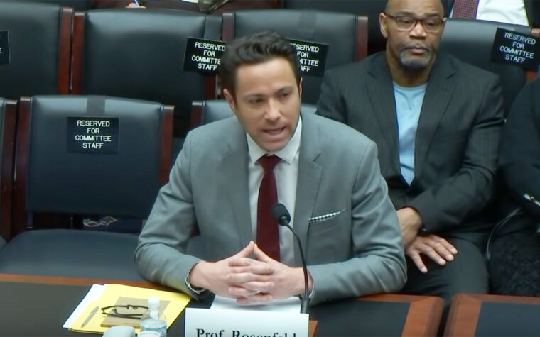 Jake Rosenfeld, associate professor of sociology at Washington University in St. Louis, testifies March 26 before a House Subcommittee exploring changes to the National Labor Relations Act.