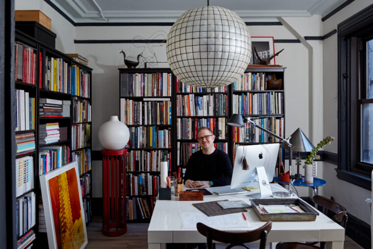 Ryan Lawson, BFA '04, in his office in New York City. Photo by Seth Caplan