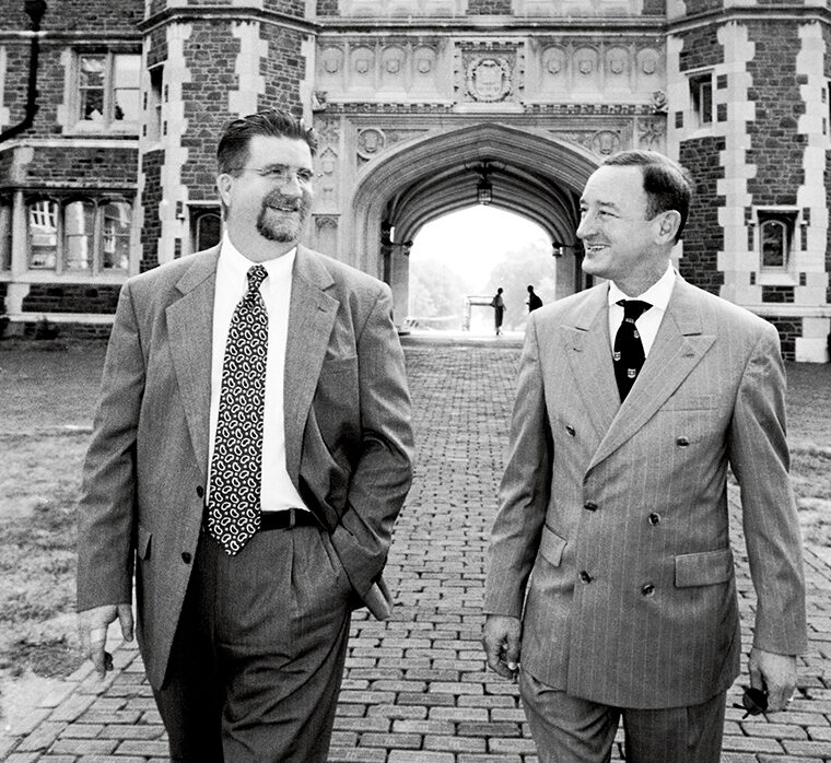 Since 1997, Steve Givens worked with Chancellor Wrighton in multiple capacities: as assistant to the chancellor and assistant vice chancellor in the Chancellor's Office, as associate vice chancellor in Public Affairs, and then back in the Chancellor's Office as associate vice chancellor and chief of staff. (Washington University Archives)