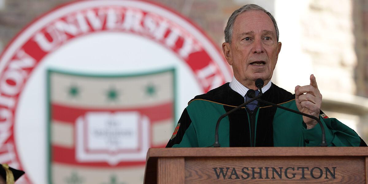 'Reclaim our civic dialogue,' Bloomberg tells graduates