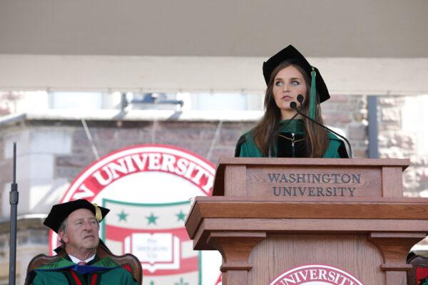 Graduate student speaker Alexandra Keane's message to the Class of2019