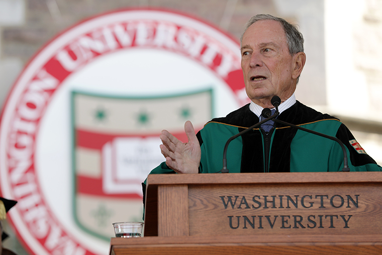 Michael R. Bloomberg delivers the 2019 Commencement address