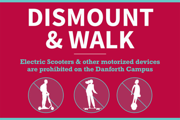 E-scooters banned from campus pathways, sidewalks