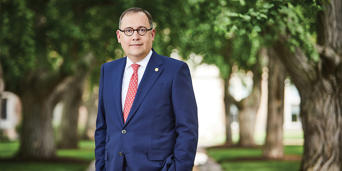 Andrew Martin, a quantitative political scientist, became the university's 15th chancellor June 1, 2019. His official inauguration is scheduled for Oct. 3, 2019. (Photo: Jay Fram)