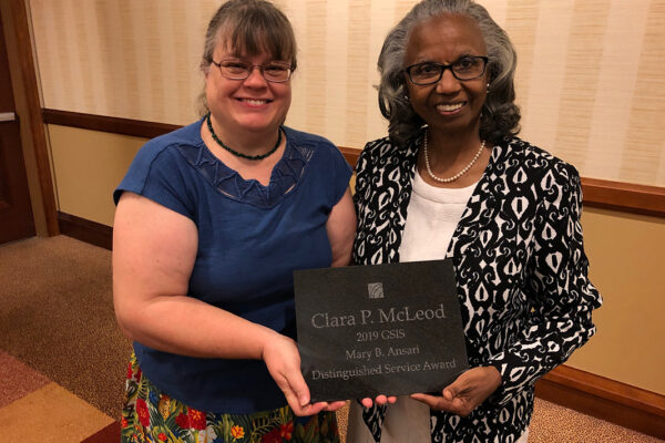 McLeod honored for contributions to geoscience information