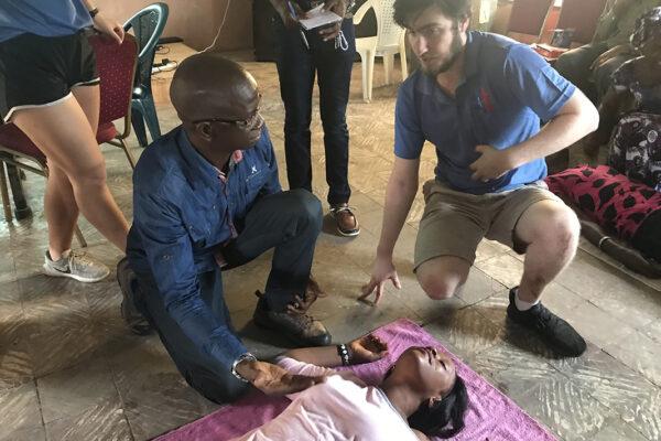 Field Notes: Junior teaches emergency medicine to Sierra Leone's locals