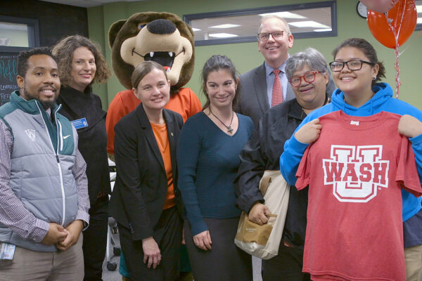 Local student surprised with WashU Pledge scholarship