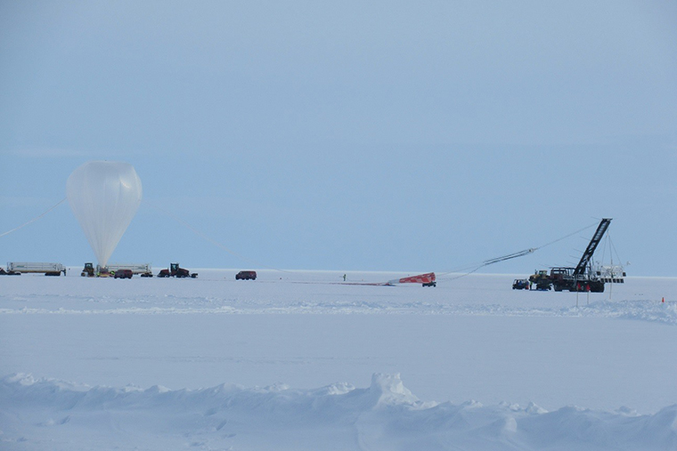 Physicists launch cosmic ray telescope from Antarctica