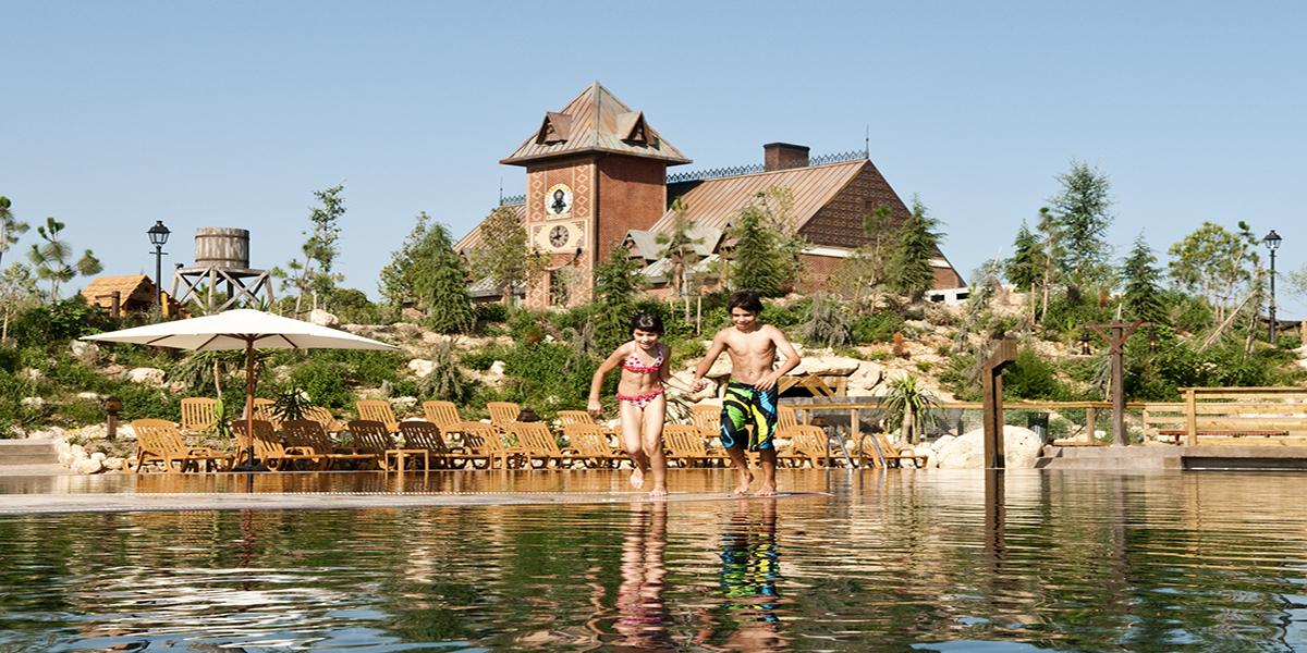 The Hotel Gold River at PortAventura World Parks and Resorts in Tarragona, Spain.