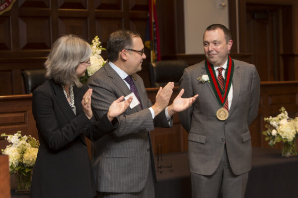 Richards installed as inaugural Koch Distinguished Professor of Law