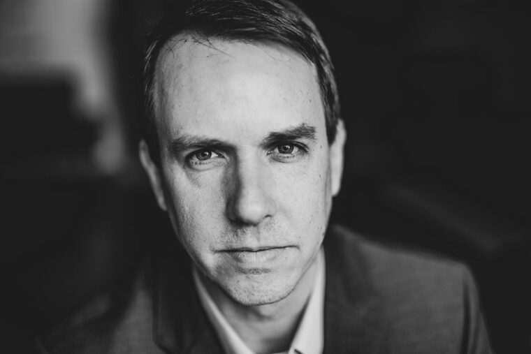 Author Ben Westhoff in black and white