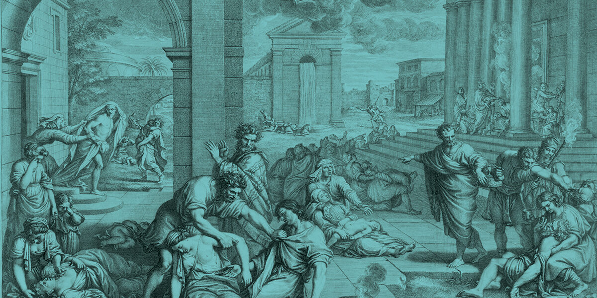 Depiction of plague victims in Italy