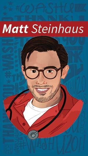 Illustration portrait of Matt Steinhaus