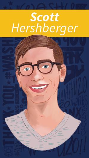 Illustrated portrait of Scott Hershberger