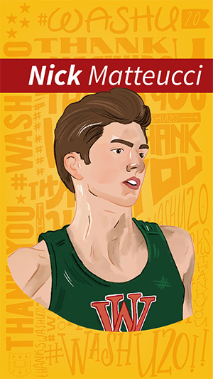 Illustration of Nick Matteucci