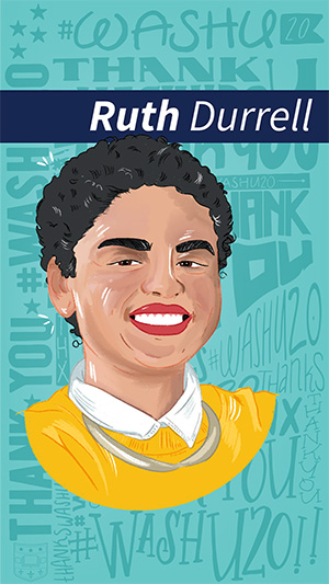 Illustration of Ruth Durrell