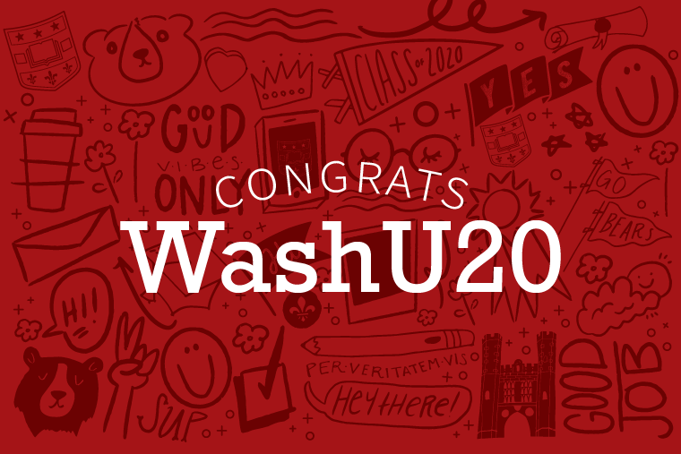 Congrats WashU20 graphic