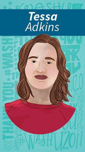Illustration portrait of Tessa Adkins