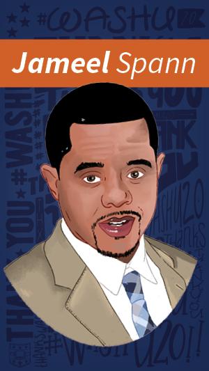 Illustration portrait of Jameel Spann