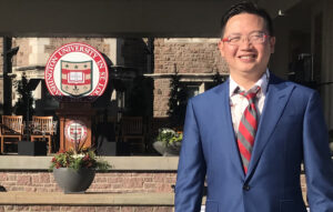 Kevin Xu, EMBA '14, president of the China Alumni Network, led the extraordinary coordination of alumni efforts across countries providing medical supplies to the School of Medicine. (Courtesy photo)