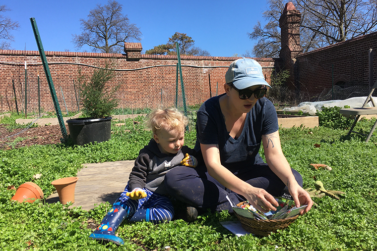 Faculty Fellow Trevor Sangrey and her son, Delaney